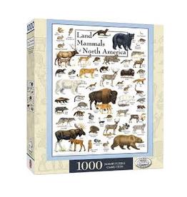Poster Art - Land Mammals of North America 1000pc Puzzle