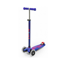 MAXI DELUXE WITH LED WHEELS MICRO SCOOTER BLUE