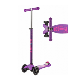 MAXI DELUXE WITH LED WHEELS MICRO SCOOTER PURPLE