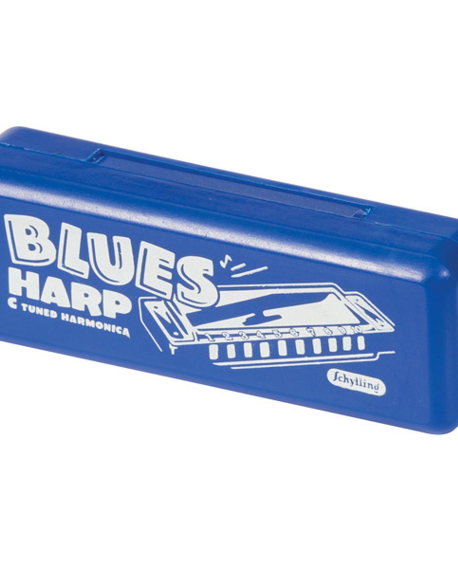 Schylling Blues Harmonica in Plastic Case