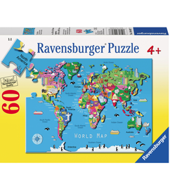 World map puzzle 60pc.
