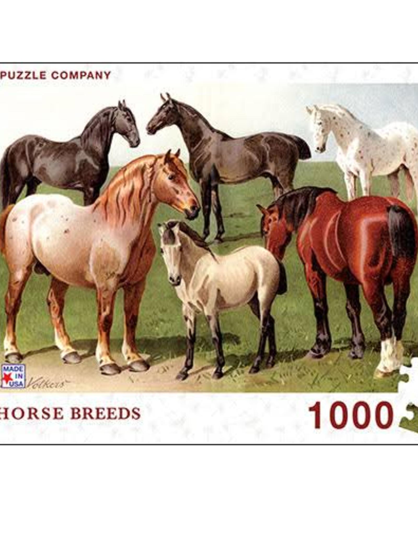 Horse Breeds PUZZLE 1000