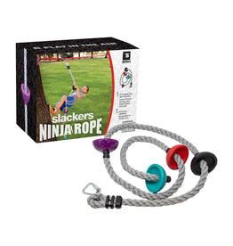 "Slackers Ninja Climbing Rope 8"" with Foot Holds"