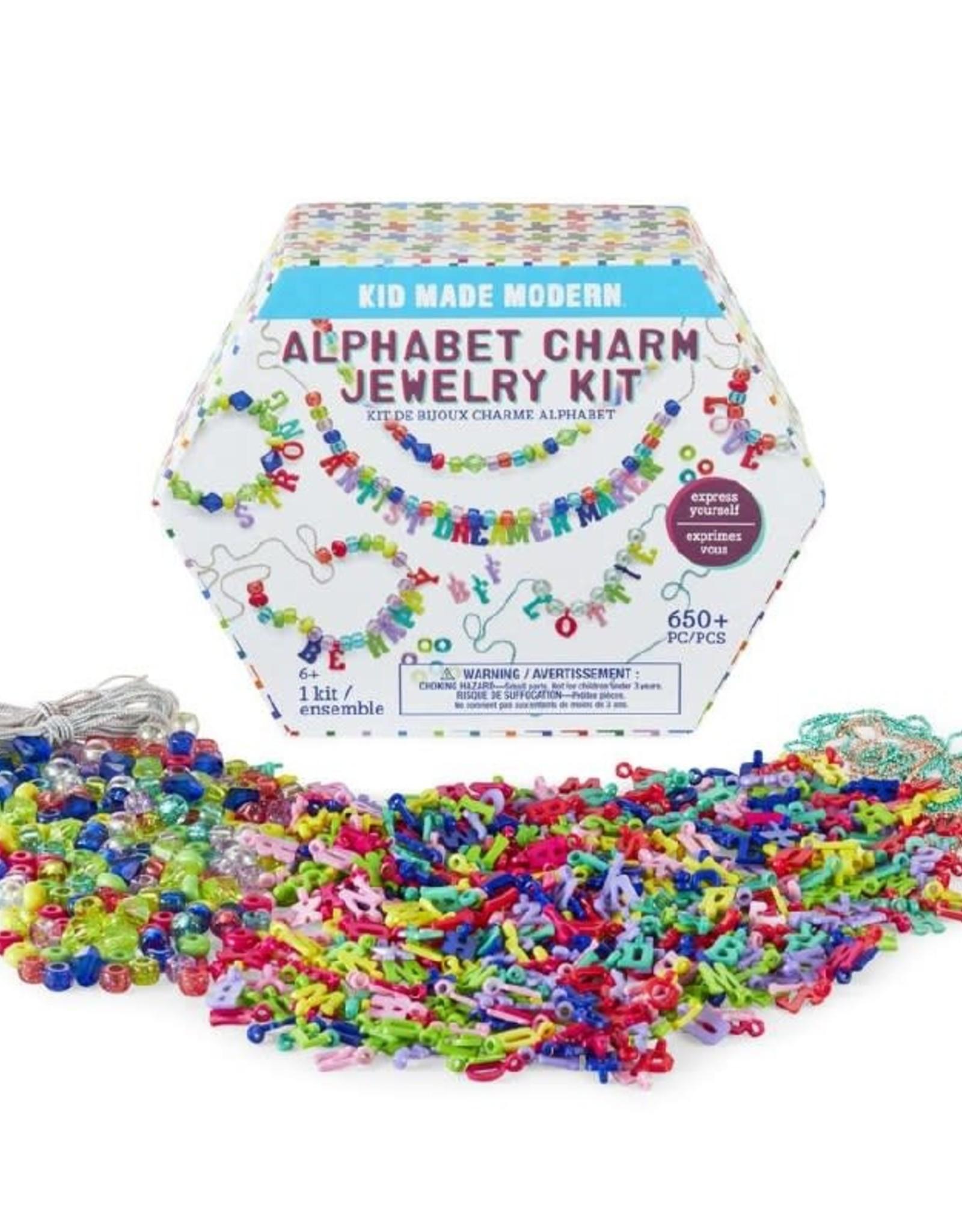 Kids Made Modern Alphabet Charm Jewelry Kit