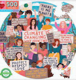 Climate Action Round Puzzle 500pc - Eeboo
