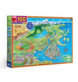 GEOGRAPHICAL TERMS PUZZLE 100 PC. EEBOO