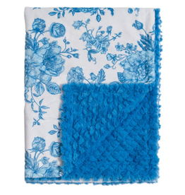 Little Adventures French Blue Floral Blanky