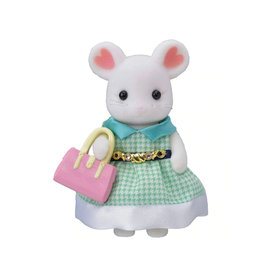 Calico Critters Town Girl-Stephanie Marshmallow Mouse