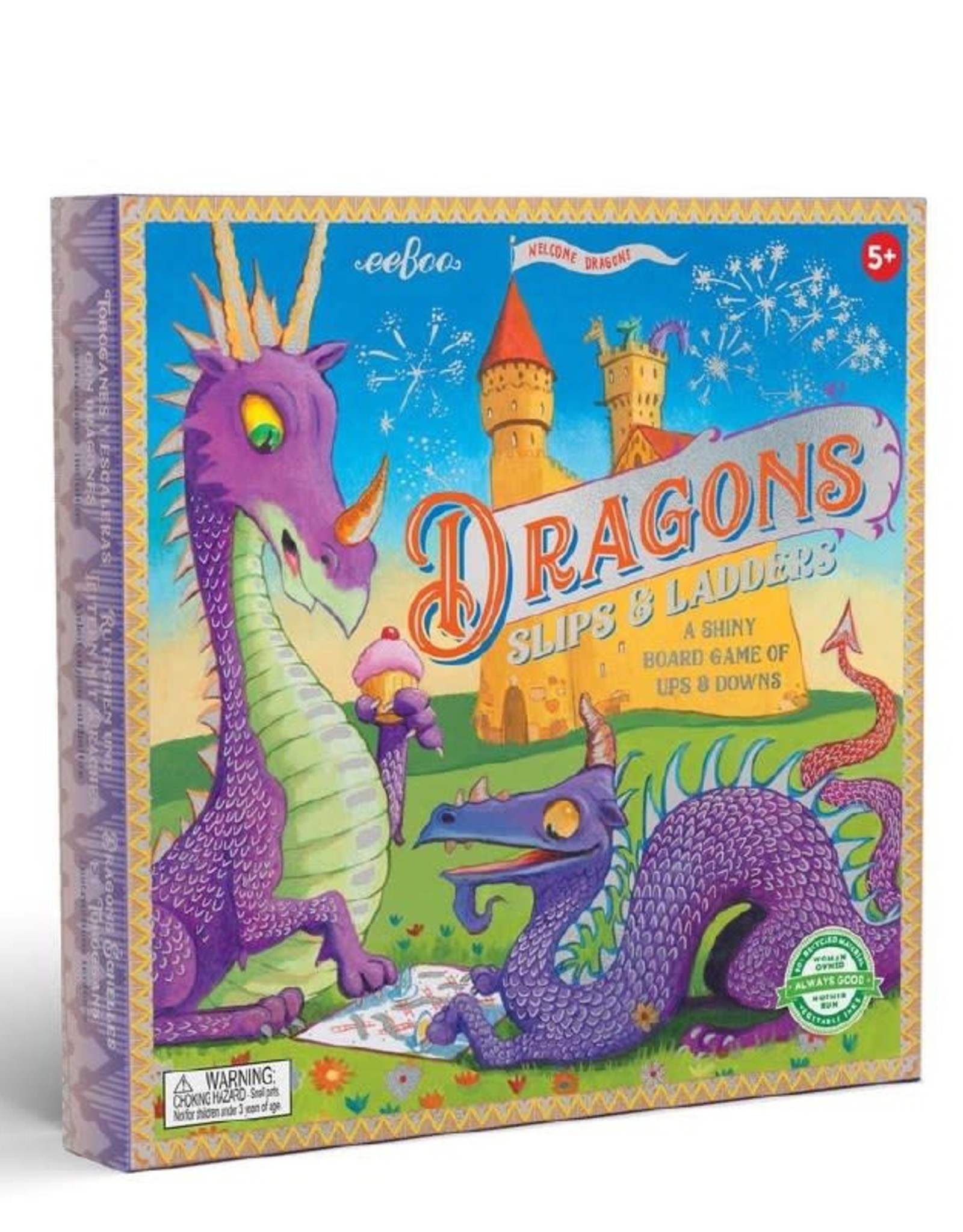 Dragons Slips and Ladders Board Game -