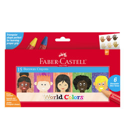 Faber-Castell Wold Colors Beeswax Crayons (15ct)
