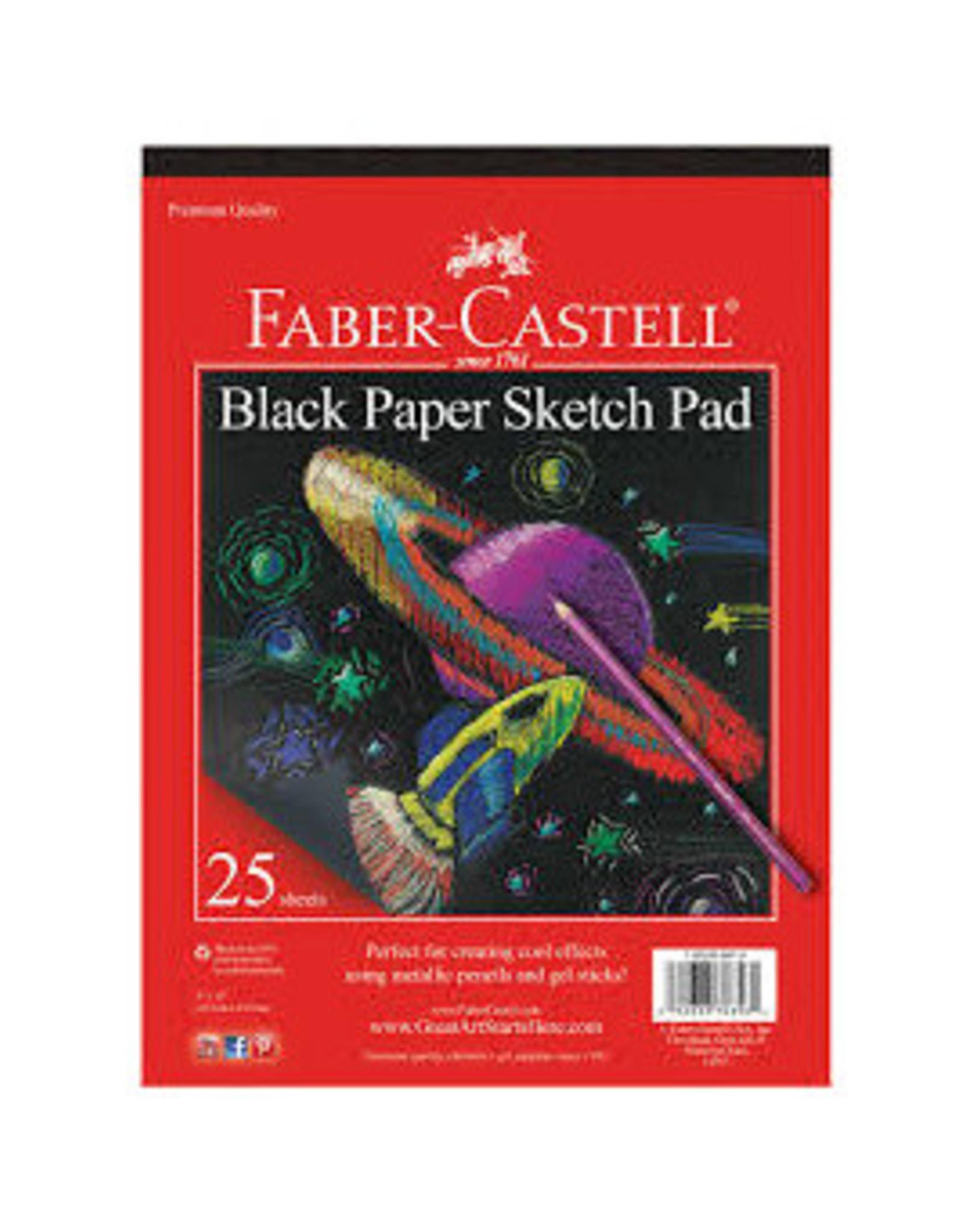 "Faber-Castell Black Paper Pad 9"" x 12"