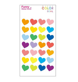 BC Mini Color Hearts Large Gel stickers