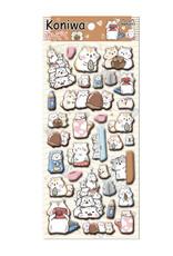 Iwako Hamster Puffy Sticker