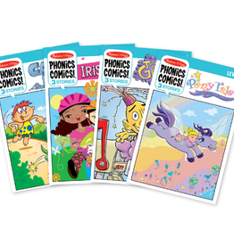 Melissa & Doug Phonics Comics All Levels Assortment in Display Tray #132816 (36 books: 3 each of 31500 to 31511)