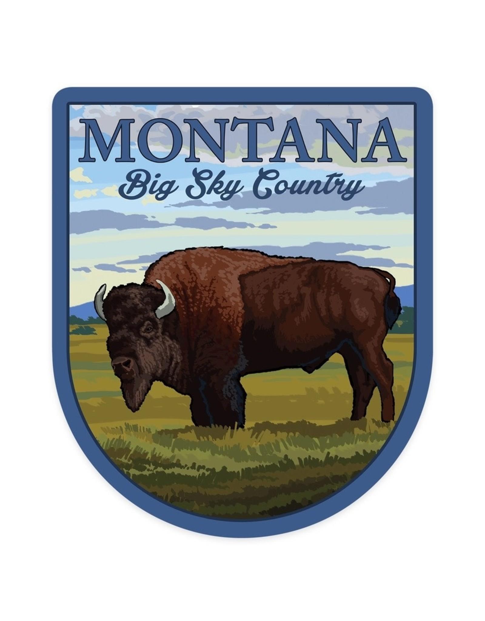 Lantern Press Montana Big Sky Country Bison STK