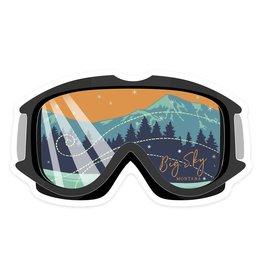 Lantern Press Big Sky Montana Ski Goggles Small