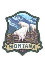 Lantern Press Montana Mountain Goats STK