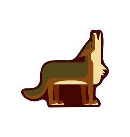 Lantern Press Wolf Howling STK