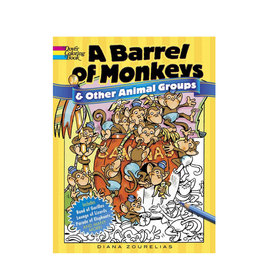 Dover Coloring Books A Barrel of Monkeys and Other Animal Groups