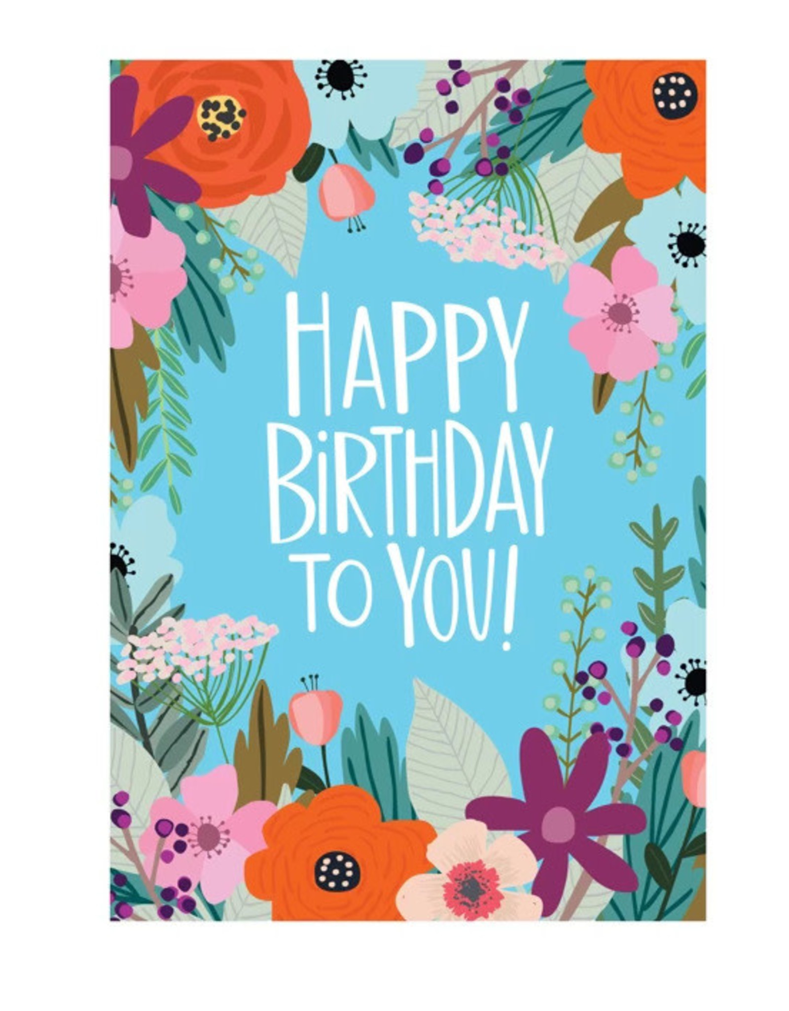 Michele Maule Happy Birthday Floral Field