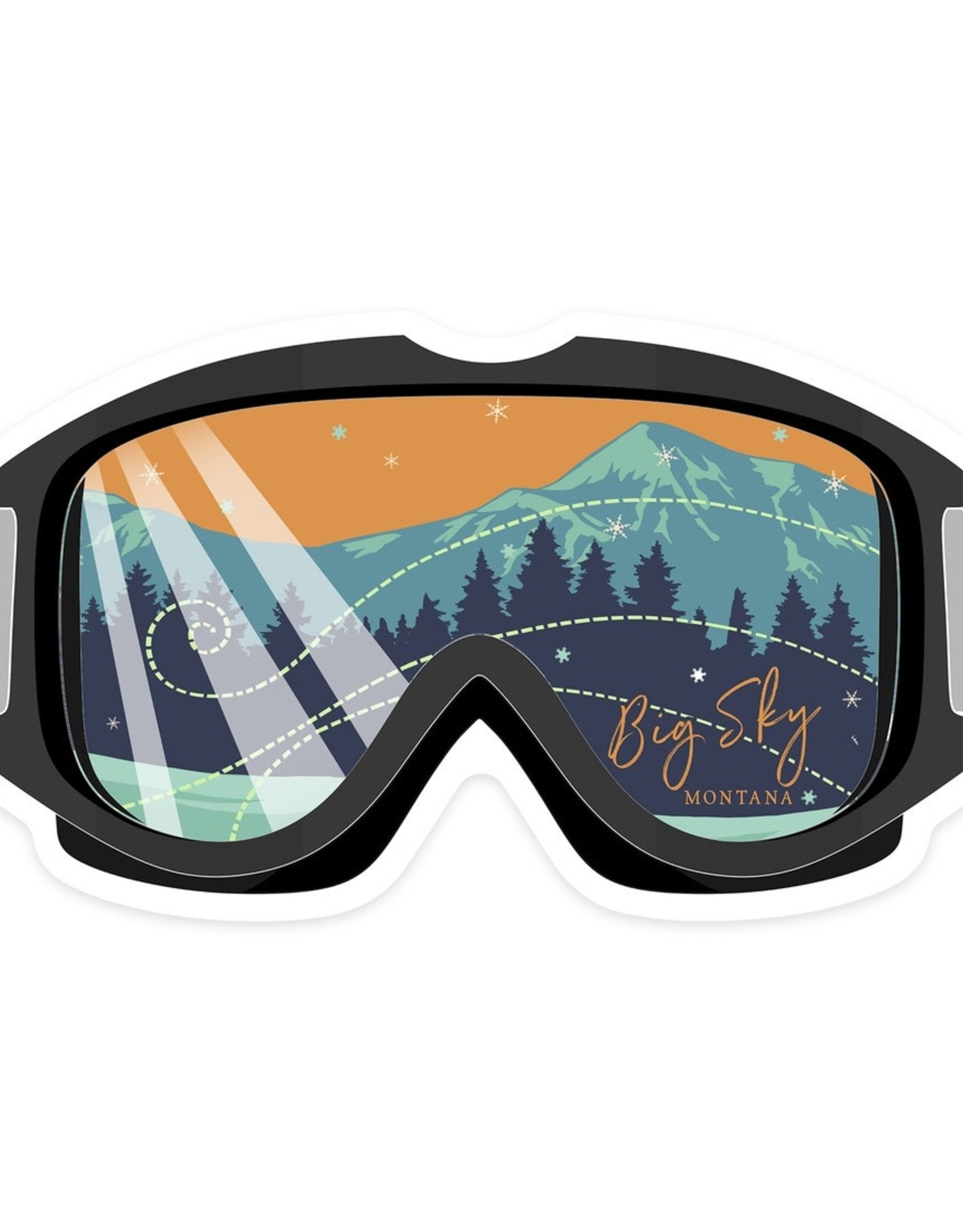 Lantern Press Big Sky Montana Ski Goggles Large STK