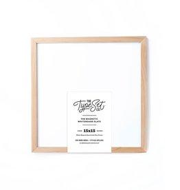 Type Set Co. 15x15 Whiteboard