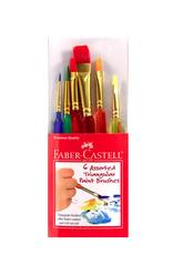 6 Assorted Triangular Paint Brushes