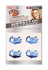 MSU Metallic Game  Face Stickers