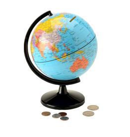 Round World Coin Bank