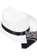 Jr. Cowboy Hat (White) w/Bandanna