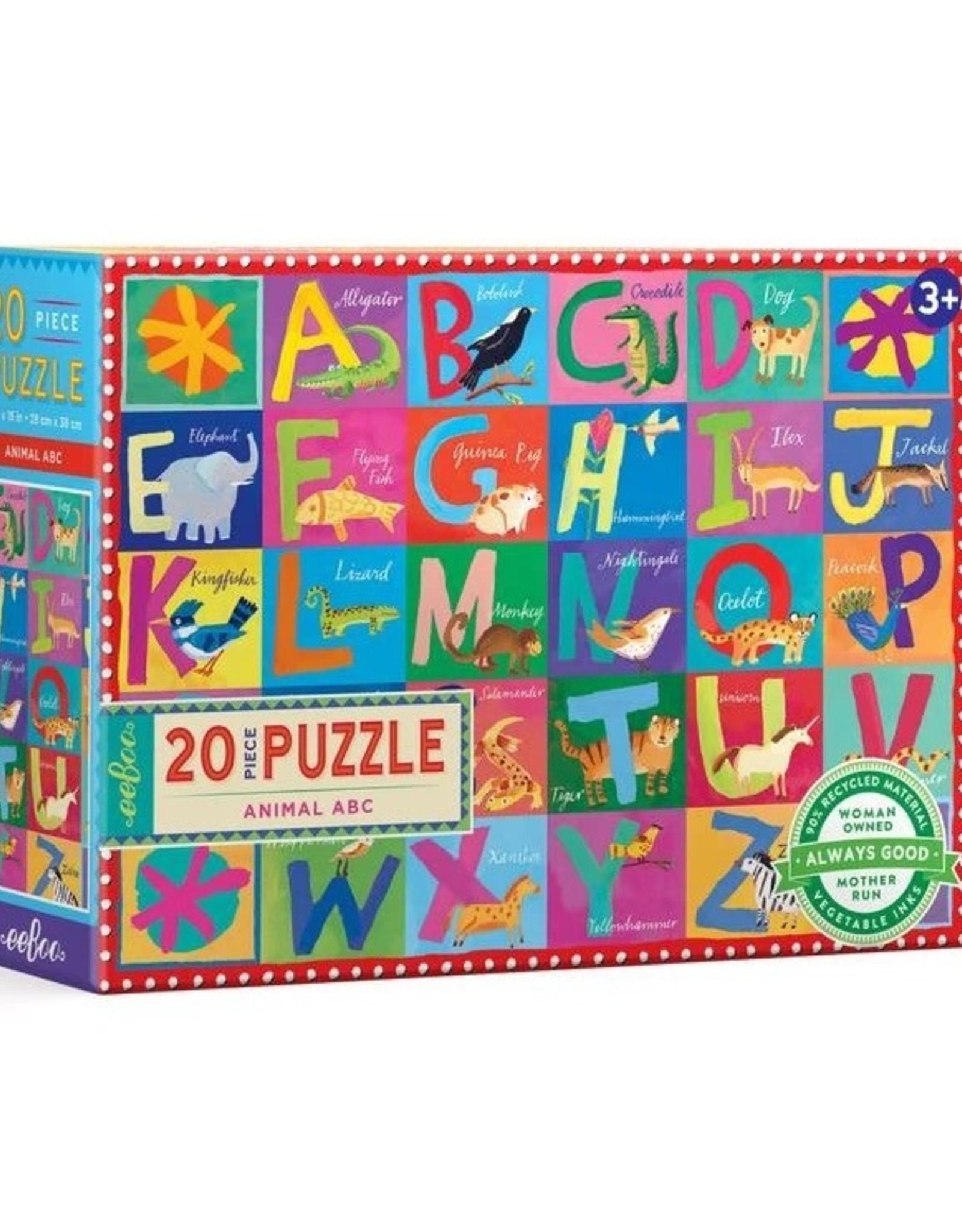 eeboo Animal ABC Puzzle 20pc. Eeboo