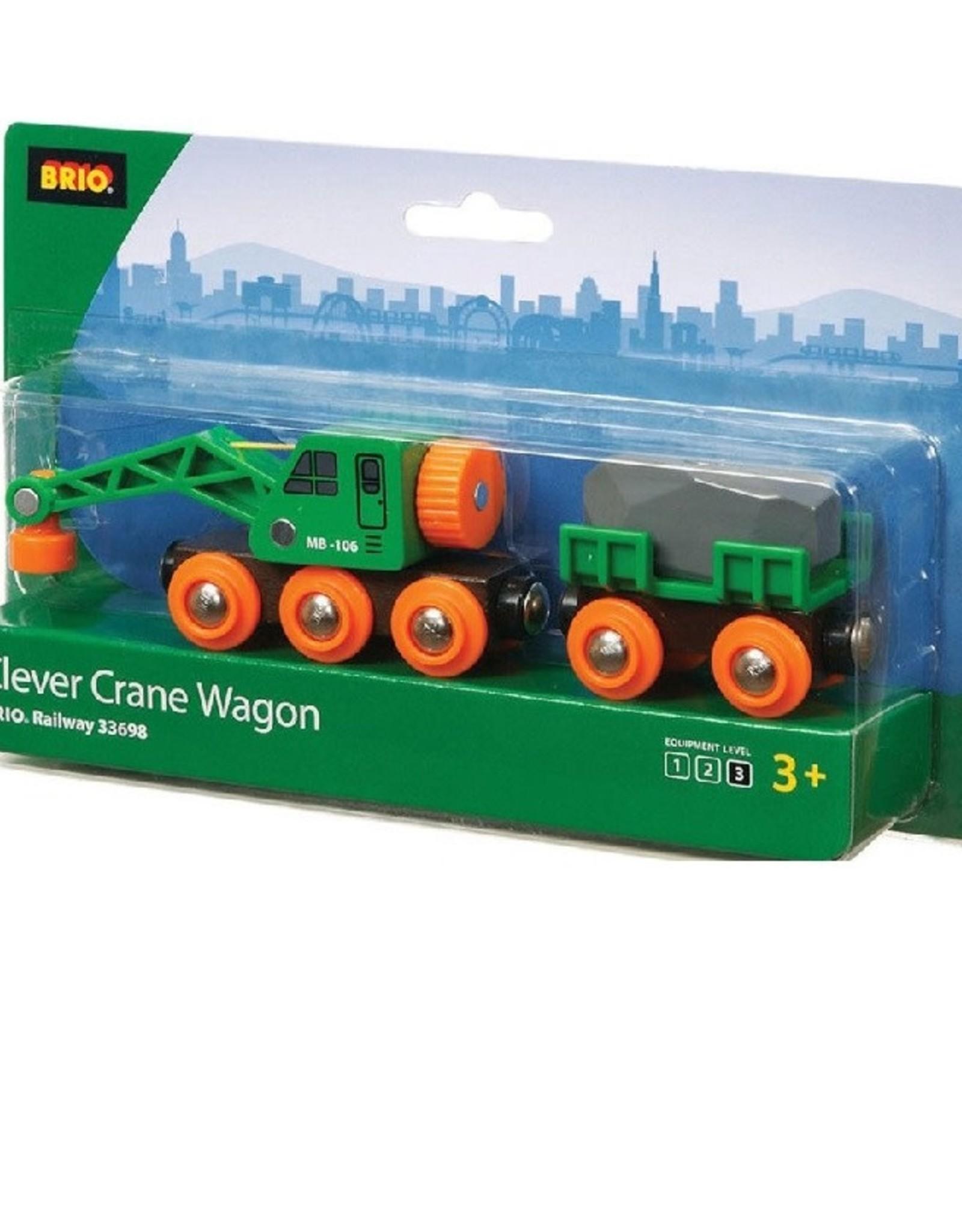 Brio Trains Clever Crane Wagon