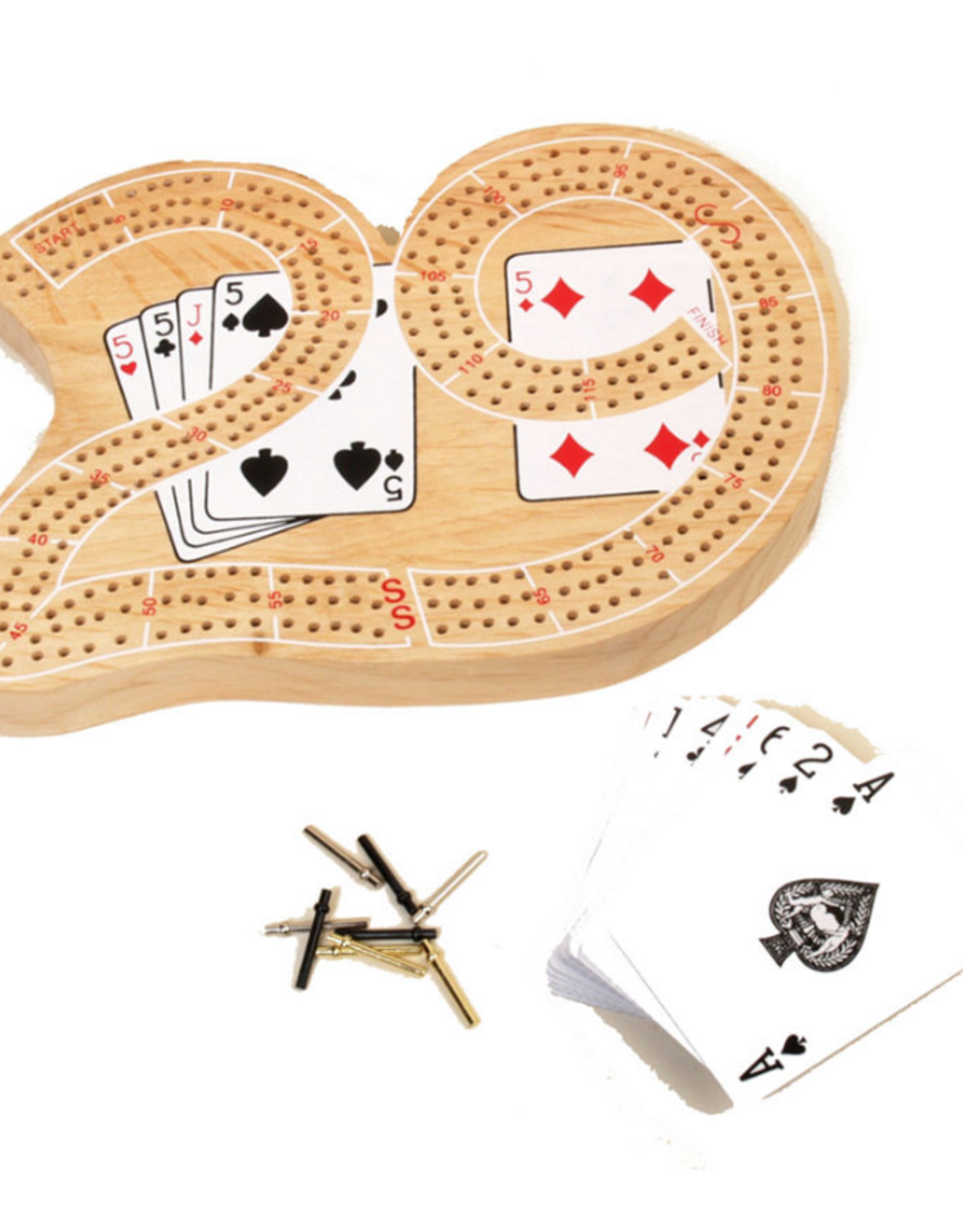 3 track 29 cribbage board w/ cards