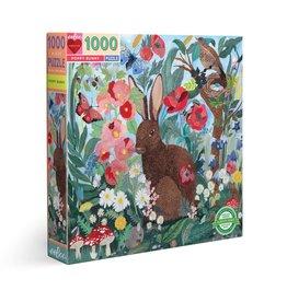 Puzzle Poppy Bunny 1000pc - Eeboo