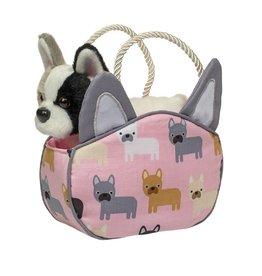 French Bulldog Bag with Bulldog Plush