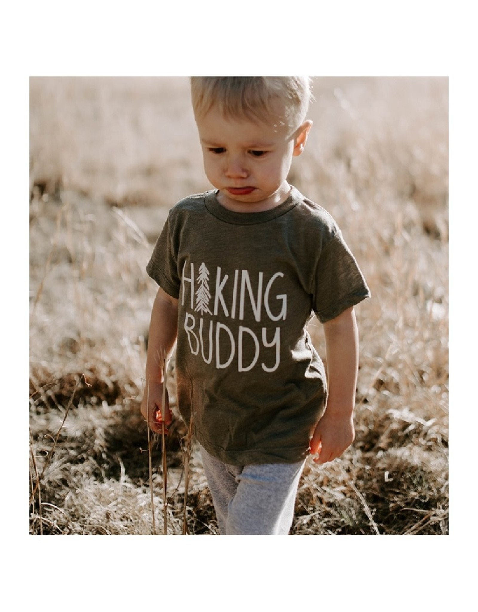 Made of Mountains Hiking Buddy Tee Olive (4T)