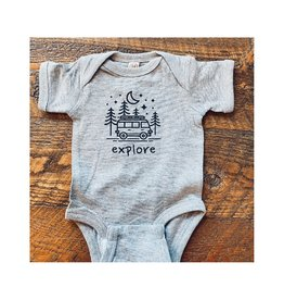 Made of Mountains Explore Camper Onesie (6M)