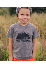 Made of Mountains He Will Move Mountains Tee YS
