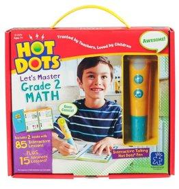 Hot Dots Jr. Let's Master Grade 2 Math Set with Hot Dots Pen