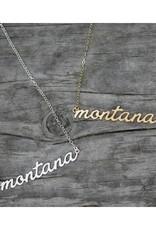 Mopntana Script Necklace