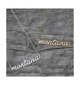 Mopntana Script Necklace