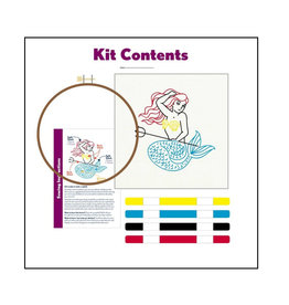Mermaid - Embroidery Kit 5""