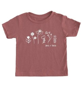 Bees + These Tee Mauve (4T)