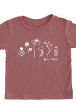 Bees + These Tee Mauve (YS)