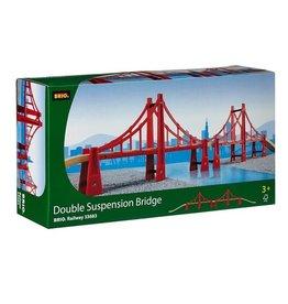Brio Trains Double Suspension Bridge