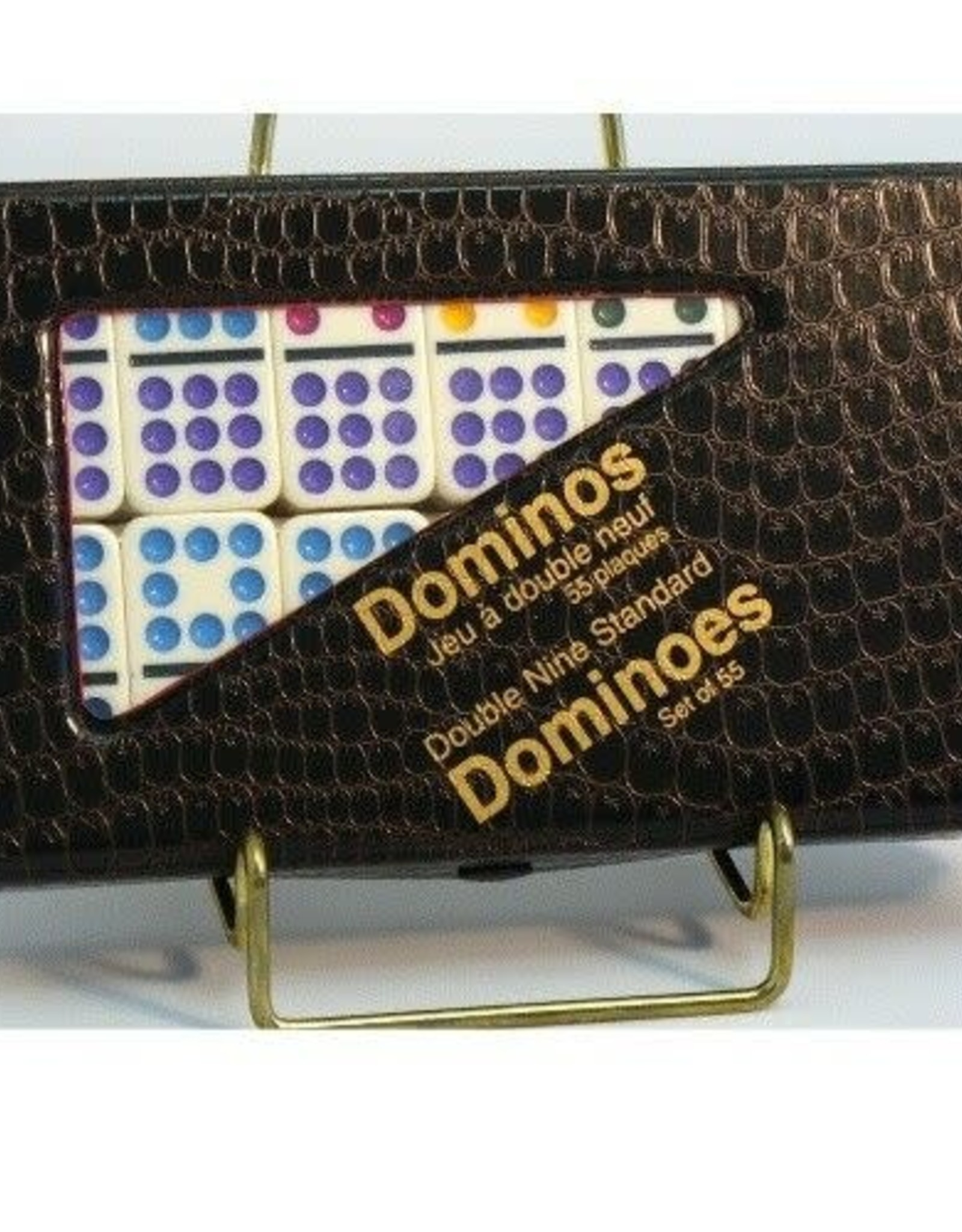 Double 9 Domino-Color Dot