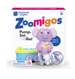 Educational Insights ZOOMIGOS ELEPHANT WITH BATH TUB ZOOMER