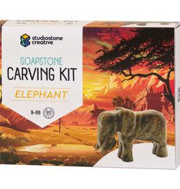 Studiostone Creative Elephant - Soapstone Carving Kit