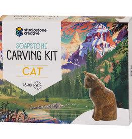 Studiostone Creative Cat - Soapstone Carving Kit