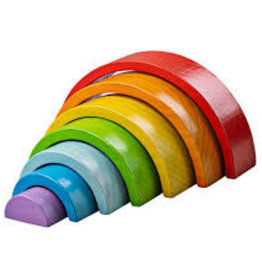 BIGJIGS Toy Wooden Stacking Rainbow - Small